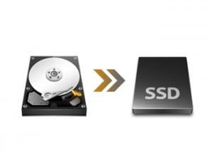 HDDからSSDへのデータ移行
