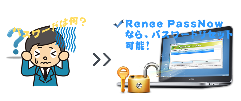 WindowsユーザーアカウントパスワードリセットソフトRenee PassNow