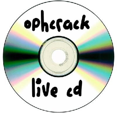 「Ophcrack LiveCD ISO」ファイルをCDに焼く、或いはUSBにコピーします