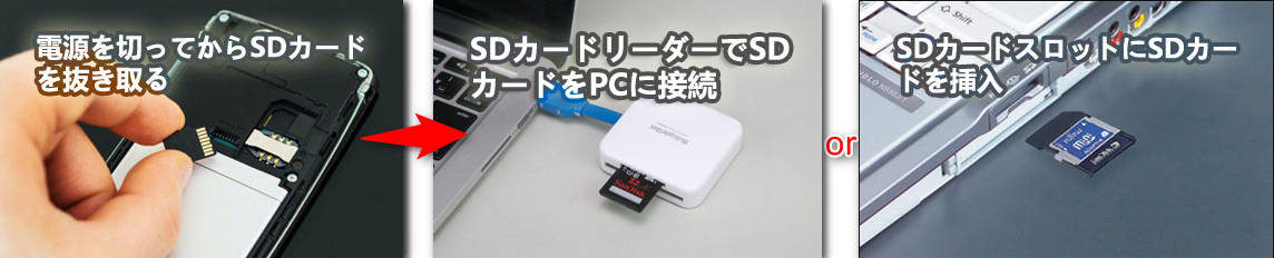 SDカードをPCに接続する
