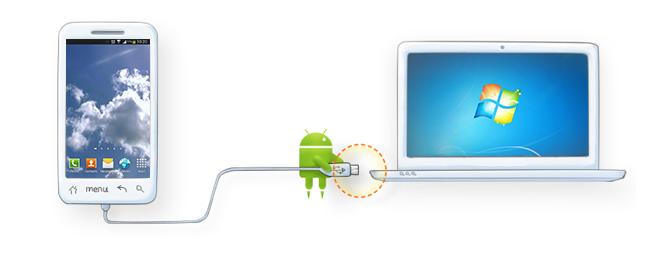 AndrodidデバイスをPCに接続