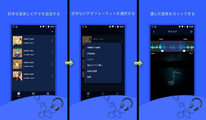 音声抽出-動画ファイルから音声ファイルを変換し抽出で音声抽出