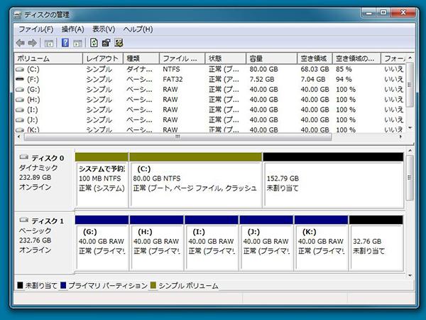GPT形式のディスクパーティション