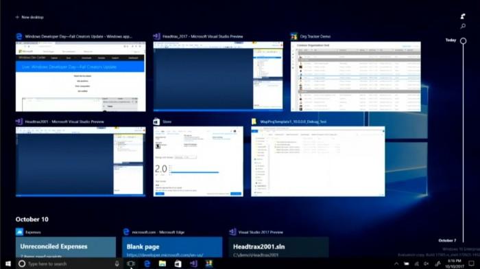 Windows10 Timeline
