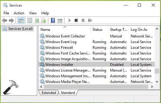 Windows Installerを有効にする