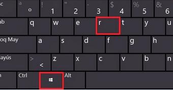 「win」+「R」を押します