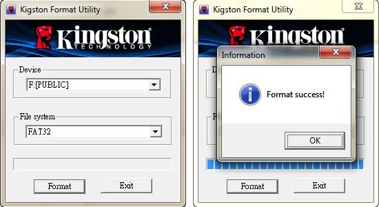 Kingston(キングストン)の「Format Utility」
