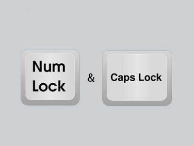 capslockとnumlock確認