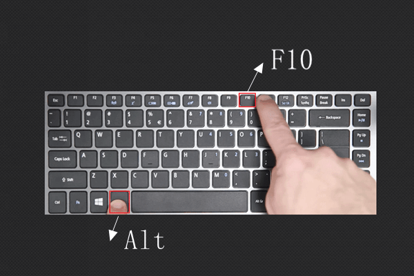 Alt+F10