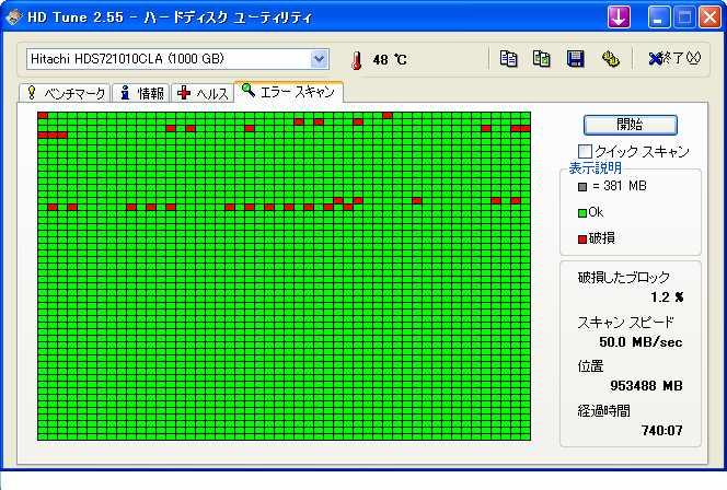 HDD不良セクター