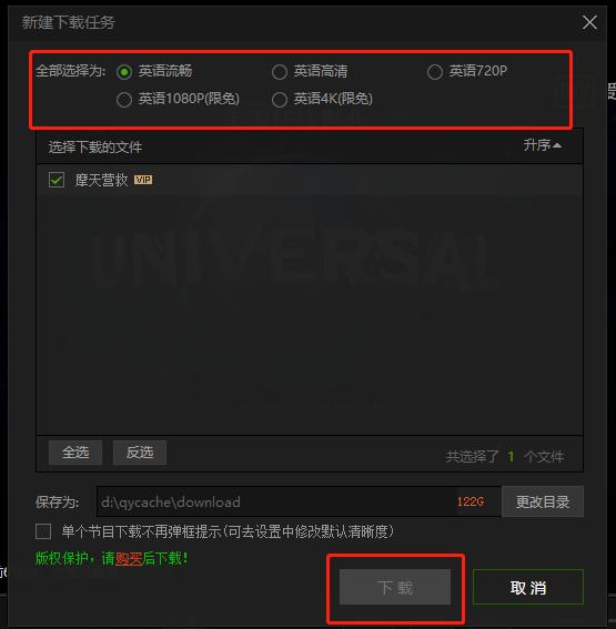 IQIYIダウンロード設定