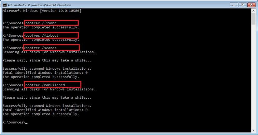 BCDファイルを修復
